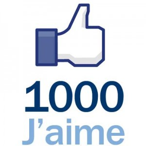 1000 mentions j'aime